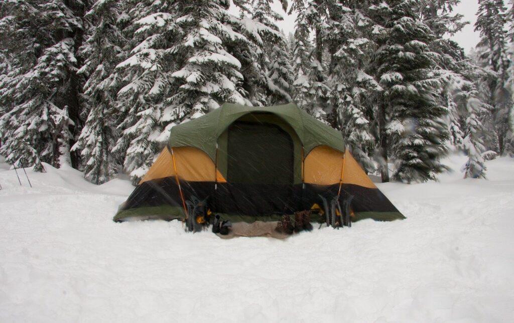 winterkamperen tent